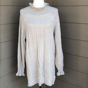 Storia Ruffle Gray Sweater Dress